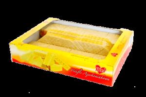 Wafle przekładane o smaku ajerkoniaku
