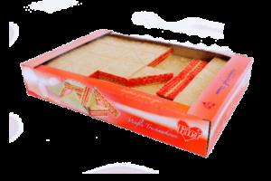 Wafle przekładane osmaku truskawkowym